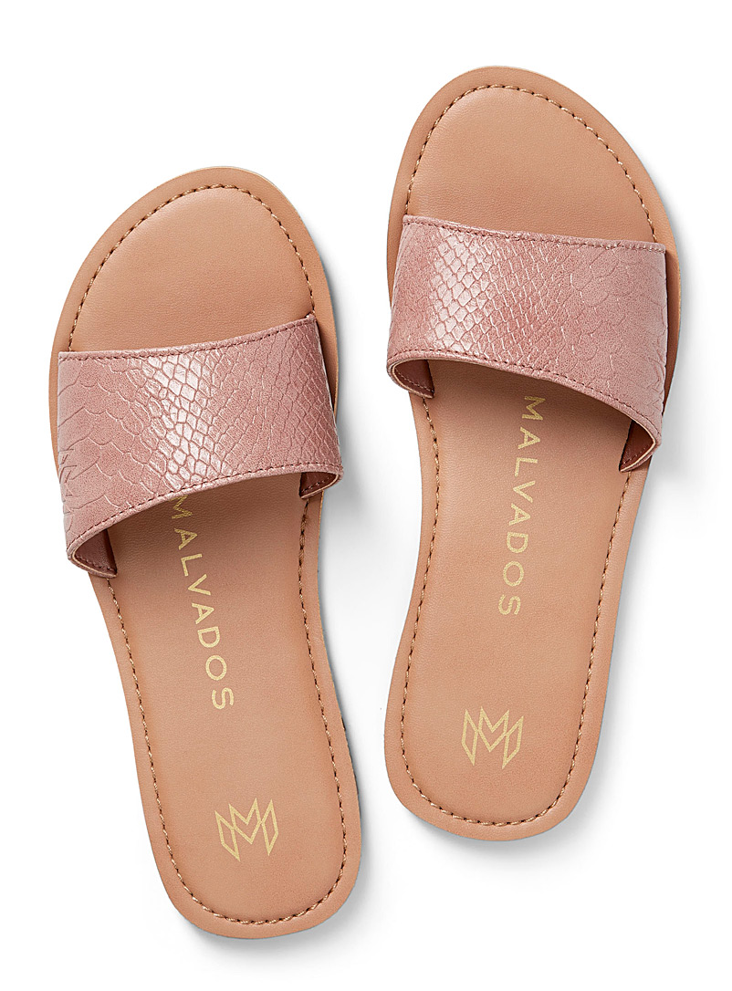 Malvados Dusky Pink Billie slides for women