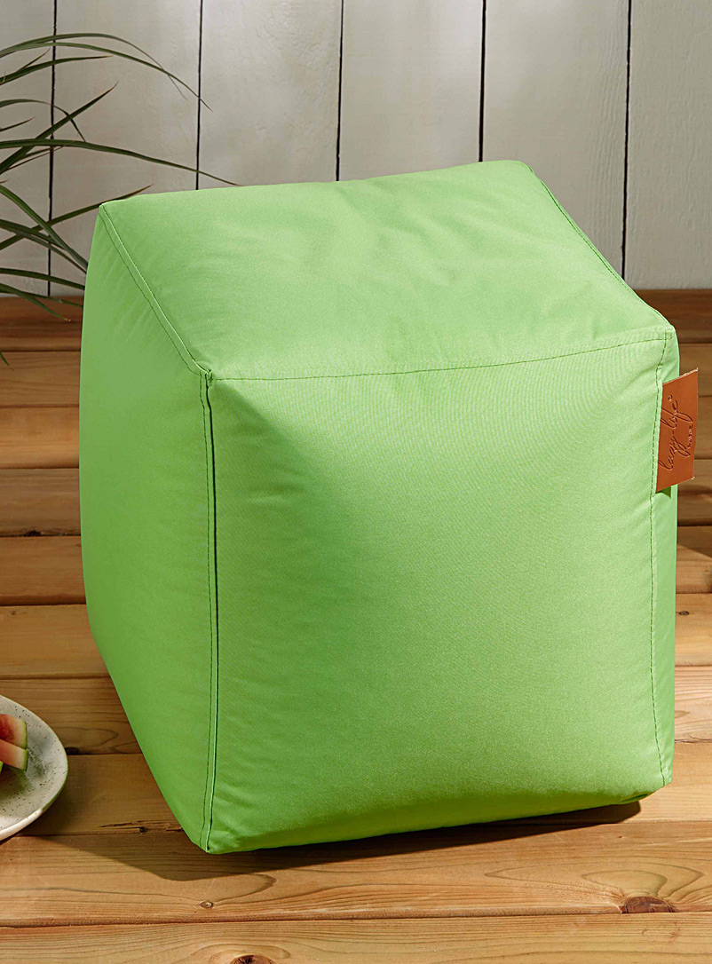 Simons Maison Lime Green Vibrant colour pouf