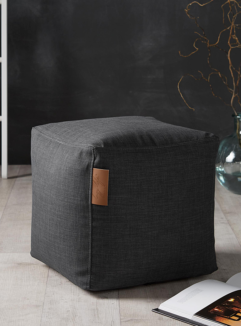 Canvas cube pouf - Poufs - Grey