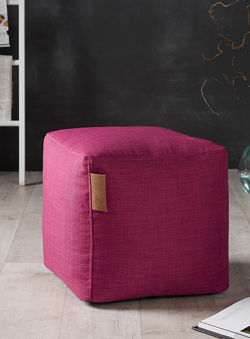 Canvas cube pouf - Poufs - Medium Pink