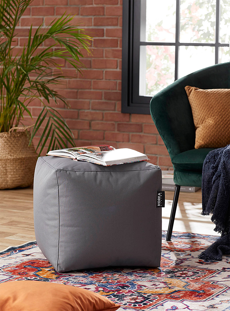 Norka Living Grey Colourful cube pouf