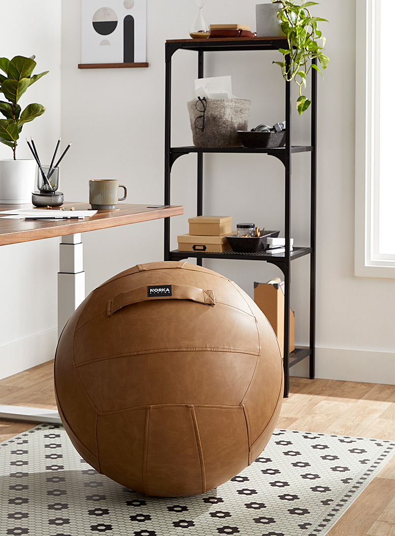 Norka Living Fawn Multifunctional faux-leather ergonomic ball