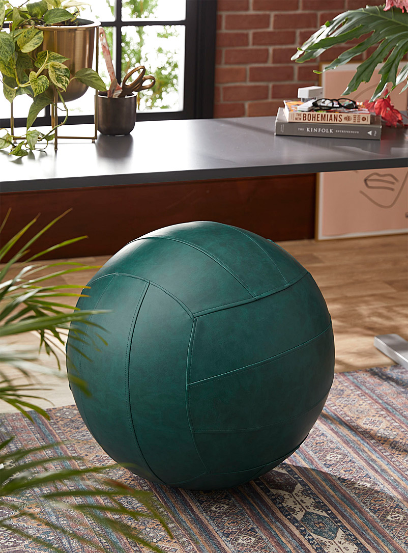 Norka Living Green Multifunction faux-leather ergonomic ball