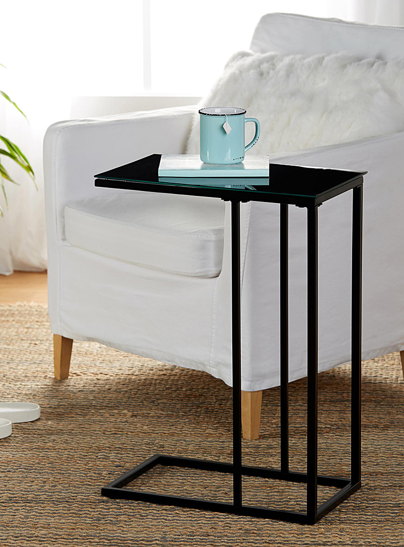 Norka Living Black Minimalist side table