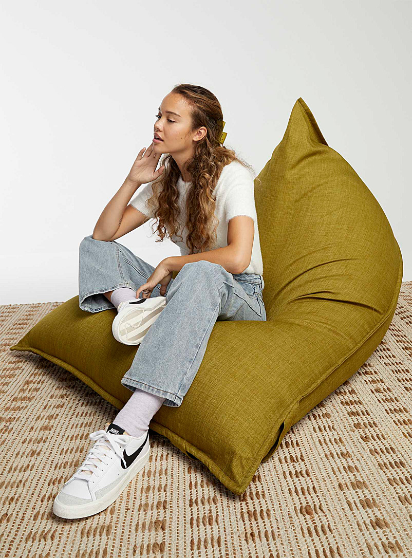Norka Living Green Comfortable lounge pouf
