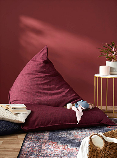 Norka Living Ruby Red Comfortable lounge pouf