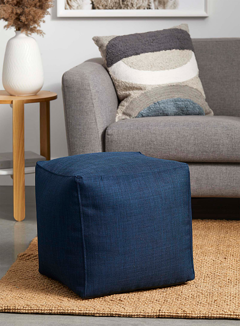 Norka Living Blue Colourful canvas pouf