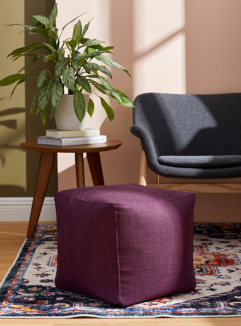 Norka Living Purple Colourful canvas pouf
