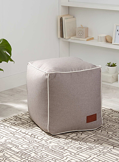 Piped trim pouf