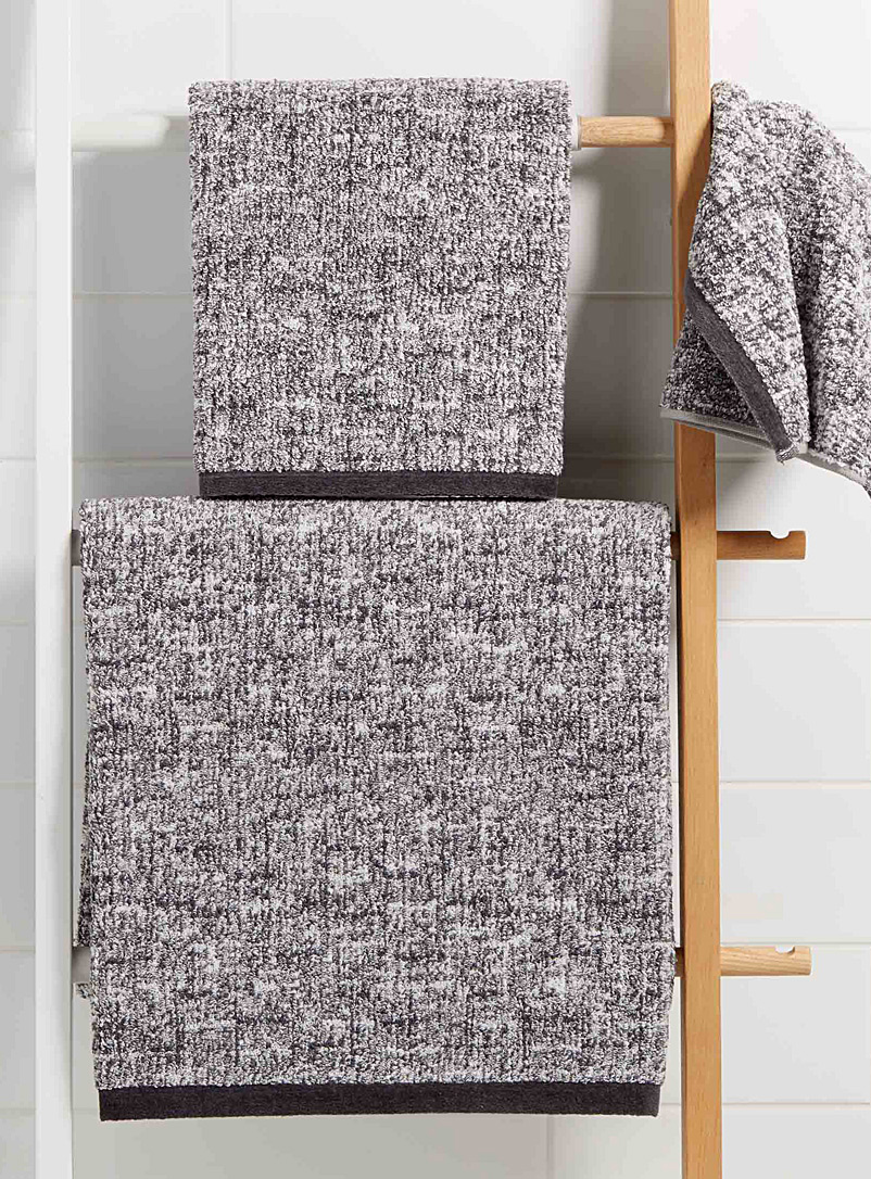 Heather grey towels - Jacquards & Embroidery - Grey