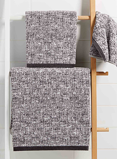 Heather grey towels