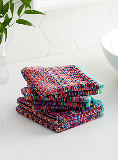 Eco-friendly stripe facecloths  Set of 5