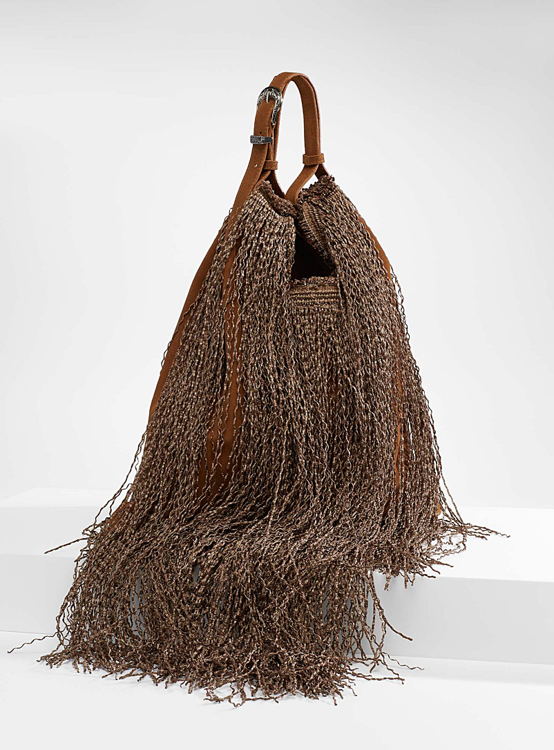 Anita Bilardi Fawn Picasso fringed bag for women