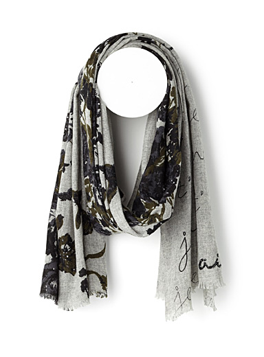 Floral love scarf