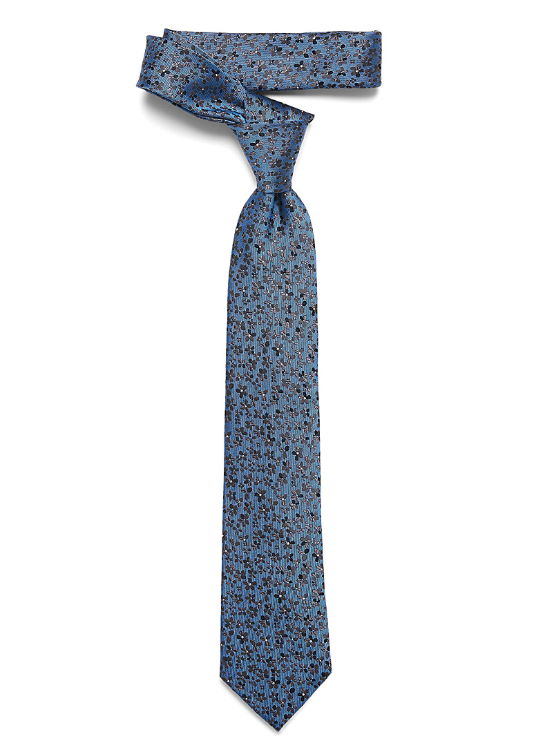 Le 31 Blue Charcoal floral tie for men