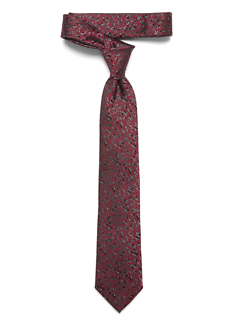 Charcoal floral tie