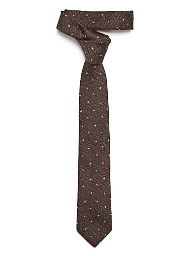 Abstract knit tie