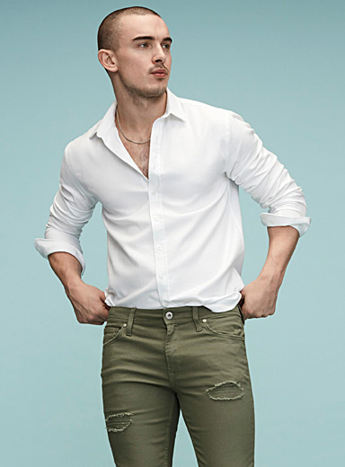 Basket wave textured shirt <br>Semi-tailored fit