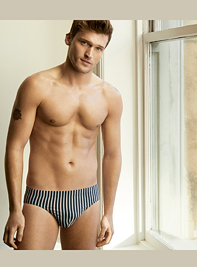 Nautical stripe brief
