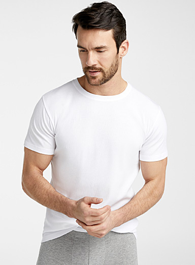 Ribbed crew-neck T-shirt
