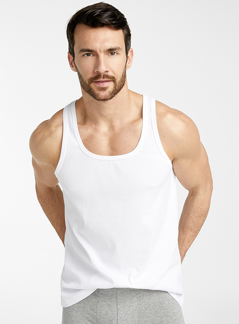 Le 31 White Essential tank for men