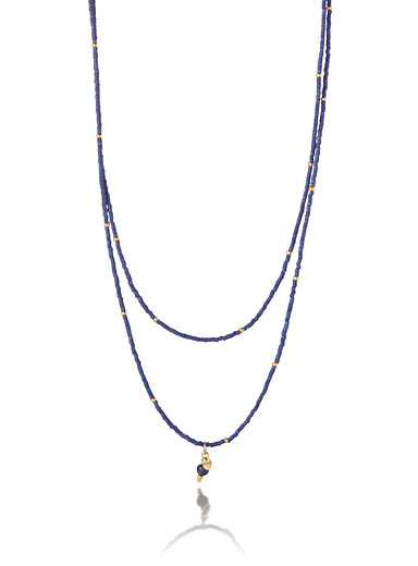 Semi-precious stones convertible necklace