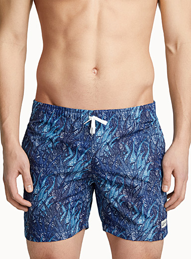 Blue coral swim trunk