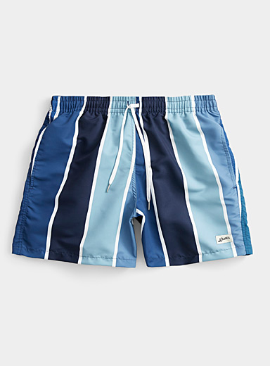 Graded stripe swim short