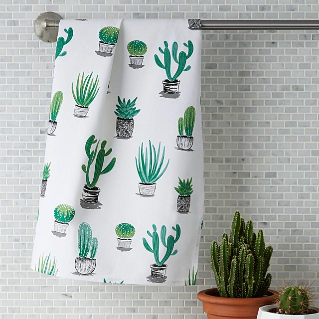 cacti-and-succulents-tea-towel