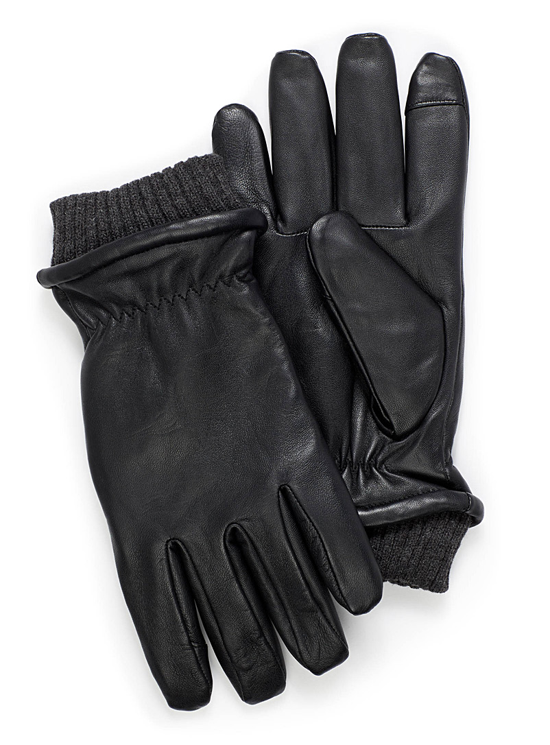 Techno lined leather gloves