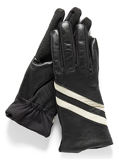 Contrast band technical gloves