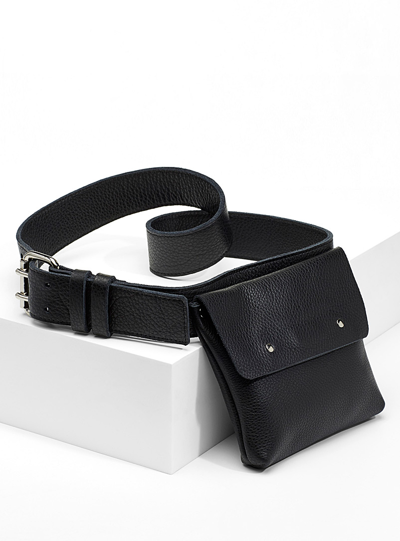 Built-in bag belt - Casual - Black