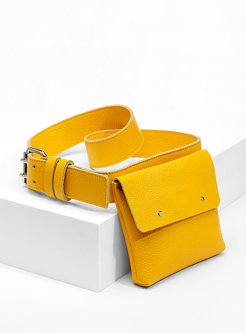 Built-in bag belt - Casual - Golden Yellow