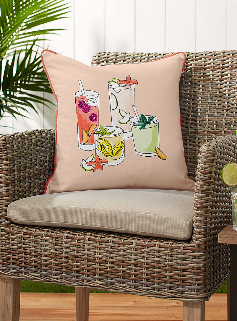 Simons Maison Assorted Summer cocktails cushion  45 x 45 cm