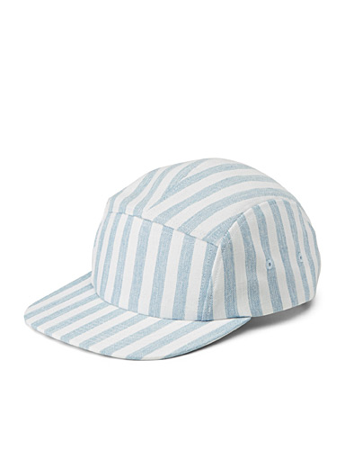 Striped camping cap