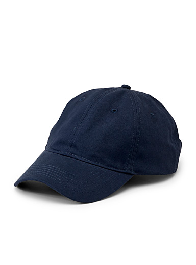 Le 31 Blue Essential solid cap for men