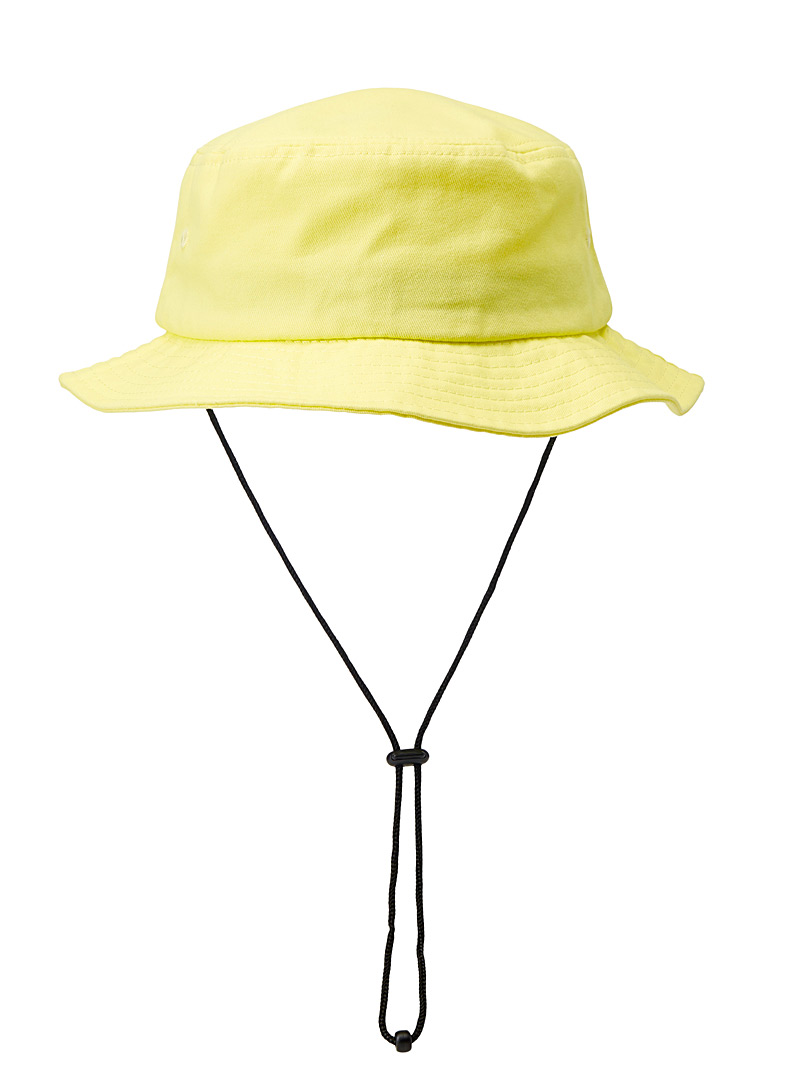 Le 31 Light Yellow Solid fisherman hat for men