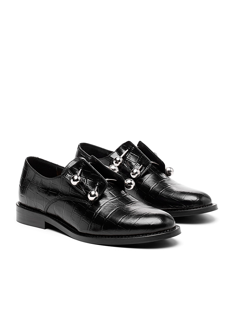 Jonak Black Duthen brogues for women