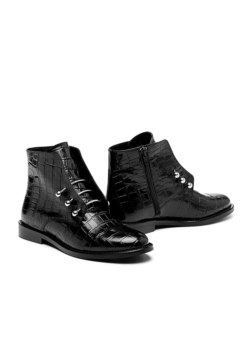 Jonak Black Dhavlen ankle boots for women
