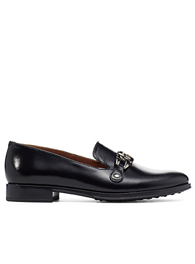 Artemas metallic buckle loafers