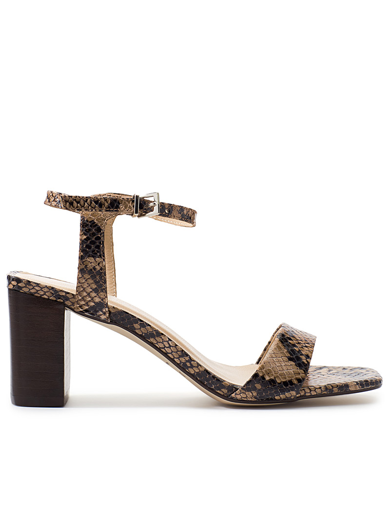 Vristo heeled sandals - Heels - Patterned Brown