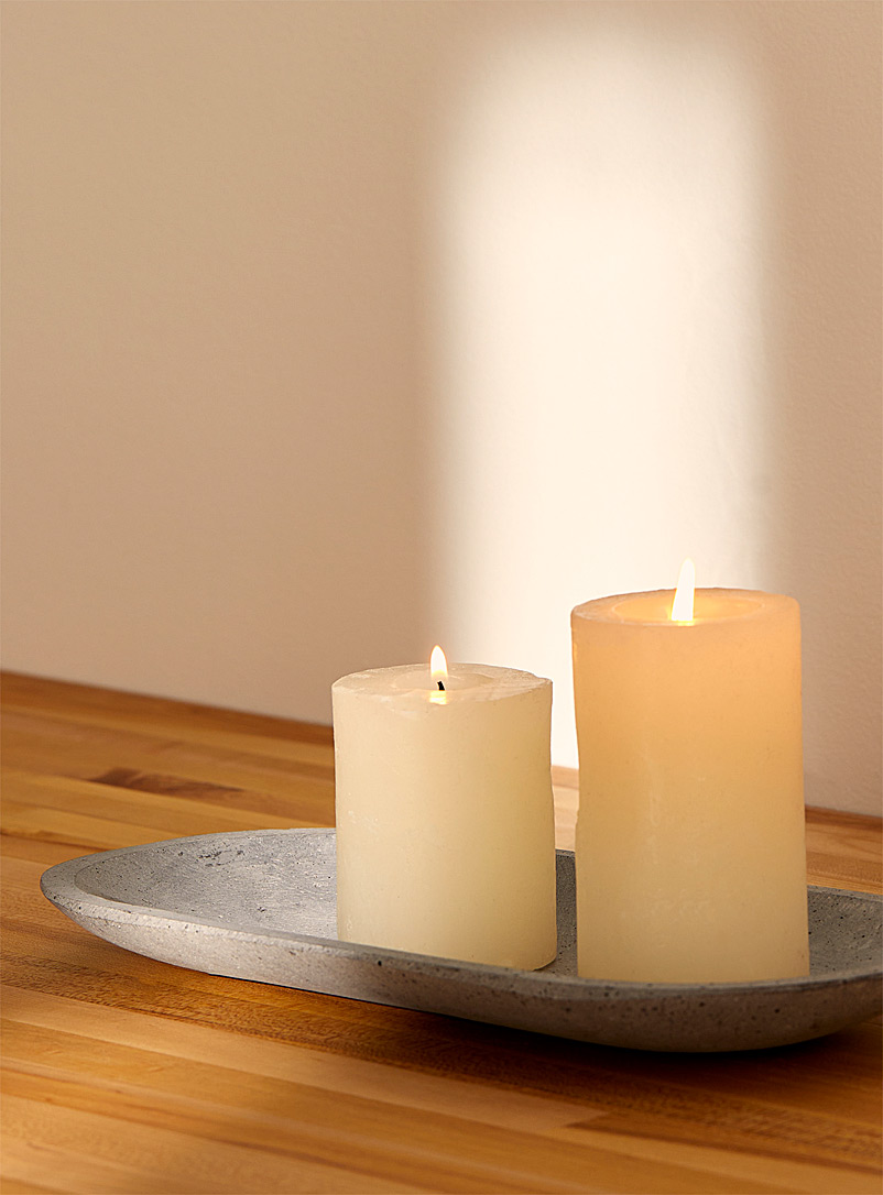 Small faux-stone platter