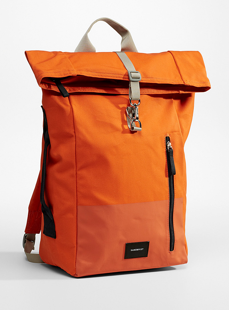 Sandqvist Orange Dante vegan backpack for women