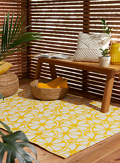 Simons Maison Medium Yellow Lemon zest outdoor rug  120 x 180 cm