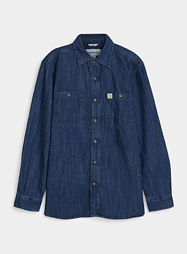 Carhartt Blue Workwear jean shirt for men