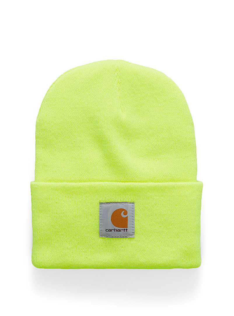 Ribbed workwear tuque - Tuques - Bright Yellow