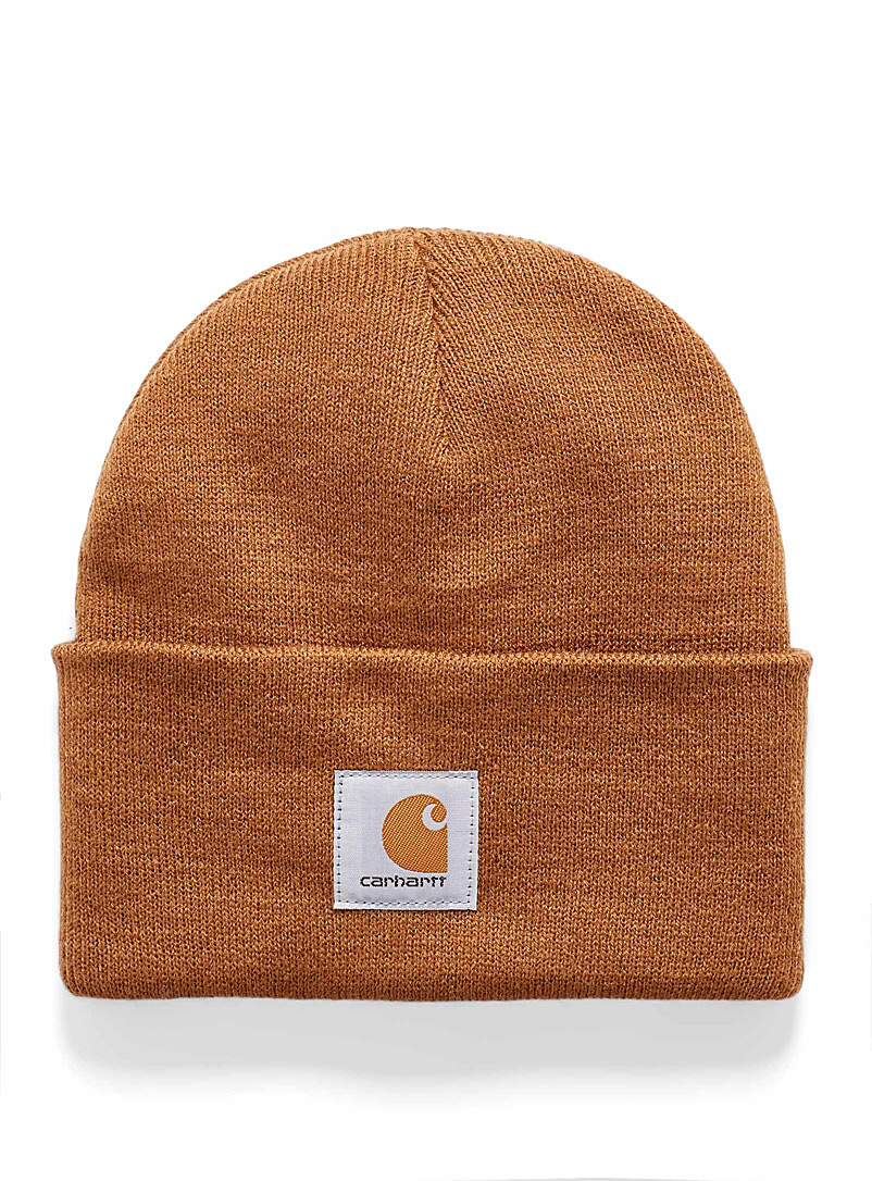Carhartt Brown Ribbed worker tuque for women