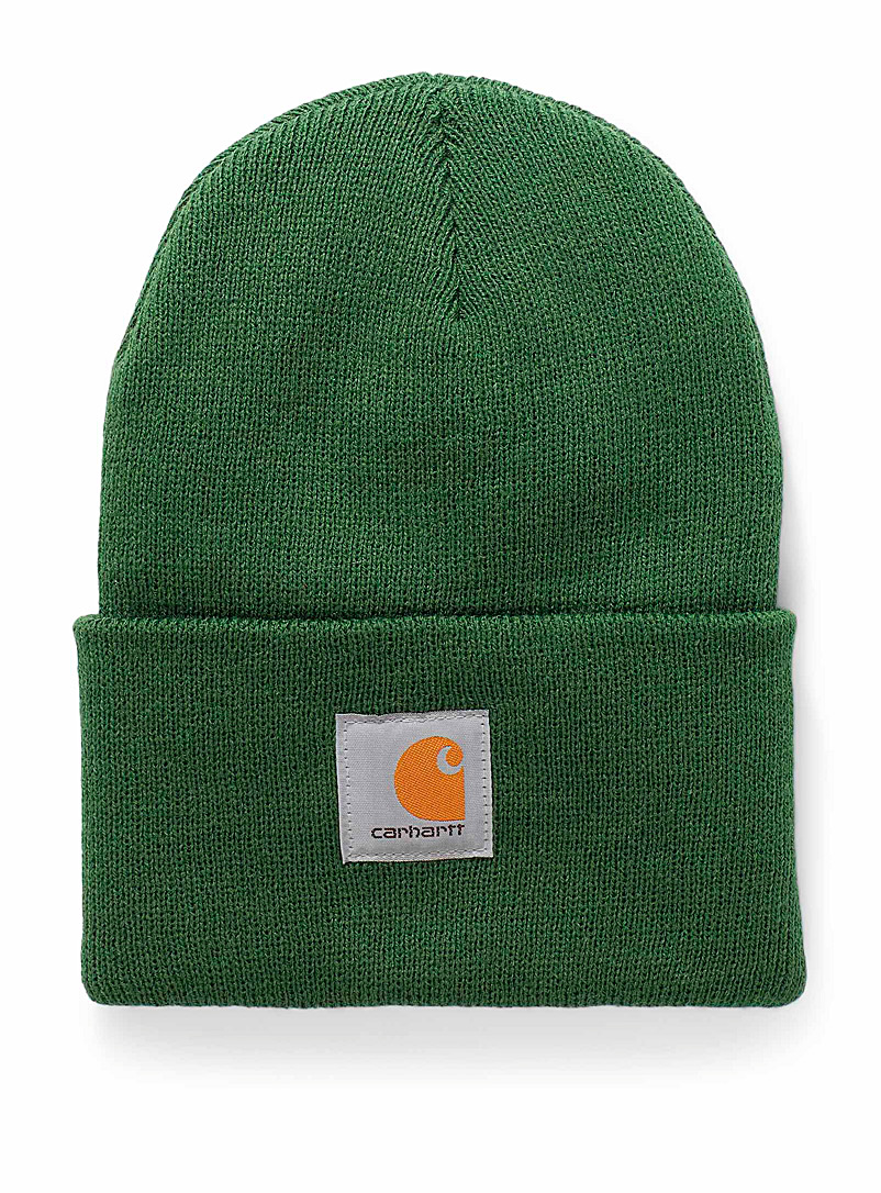 Carhartt Green Ribbed worker tuque for women