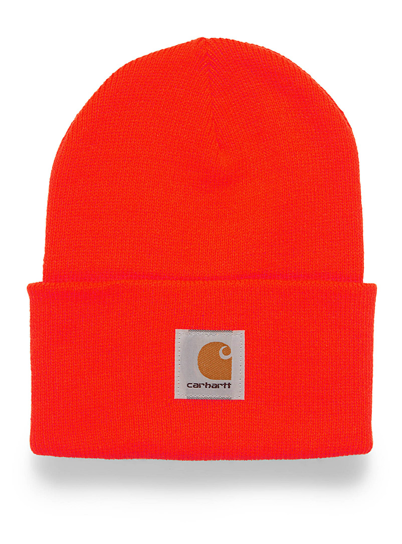 Carhartt Orange Ribbed worker tuque for women