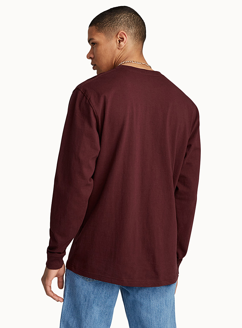 Long-sleeve pocket tee - Logo wear - Ruby Red